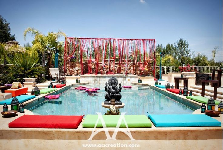 Outdoor Mehndi Party : Poolside mehndi google search