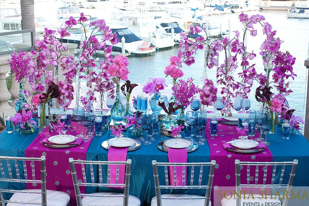 turquoise decor table decor stunning gift purple table art aqua gift purple table decor purple and blue turquoise /& purple homeware