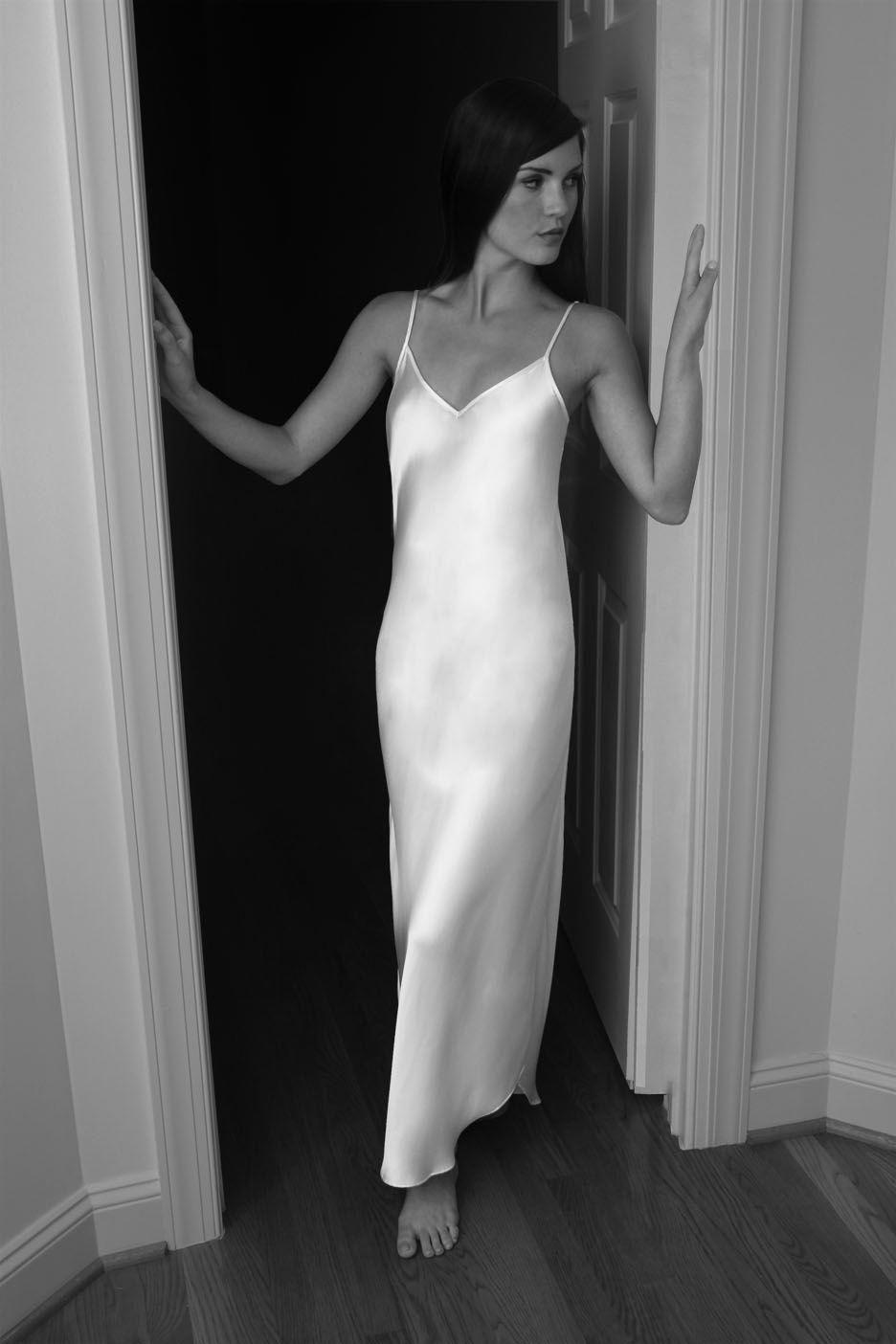 88ec75a94b3 LINDA HARTMAN CLASSIC HART Long Gown Timeless.Elegant.Silk  silkclothes