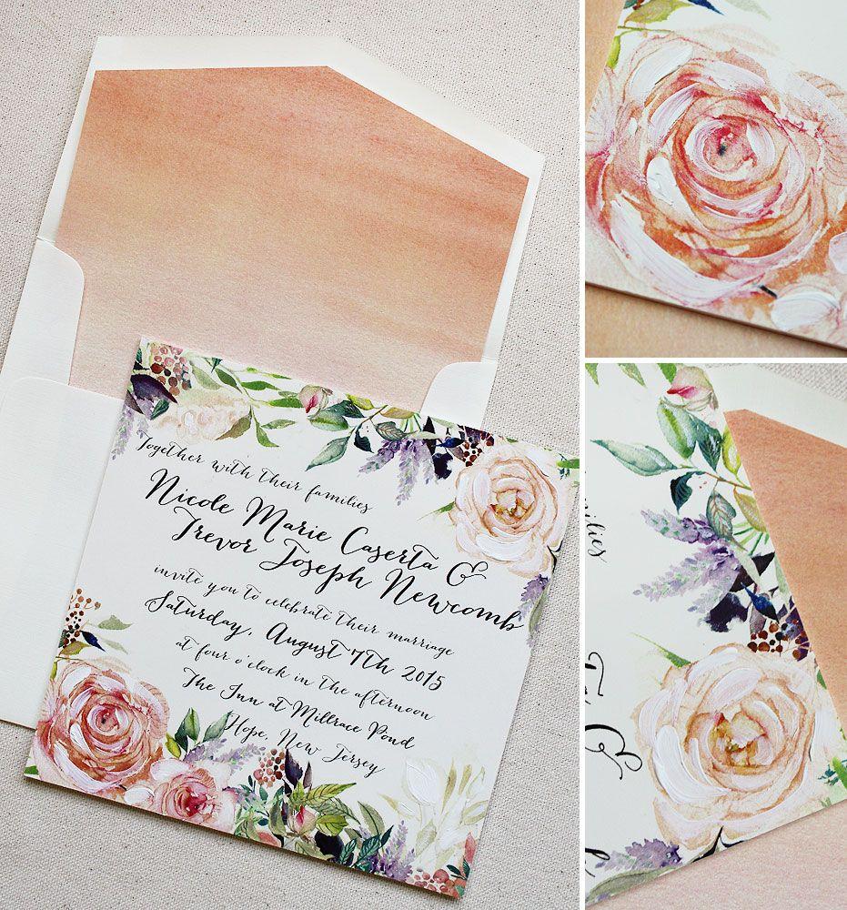 watercolor-garden-wedding-invite | Wedding Invitations | Pinterest ...