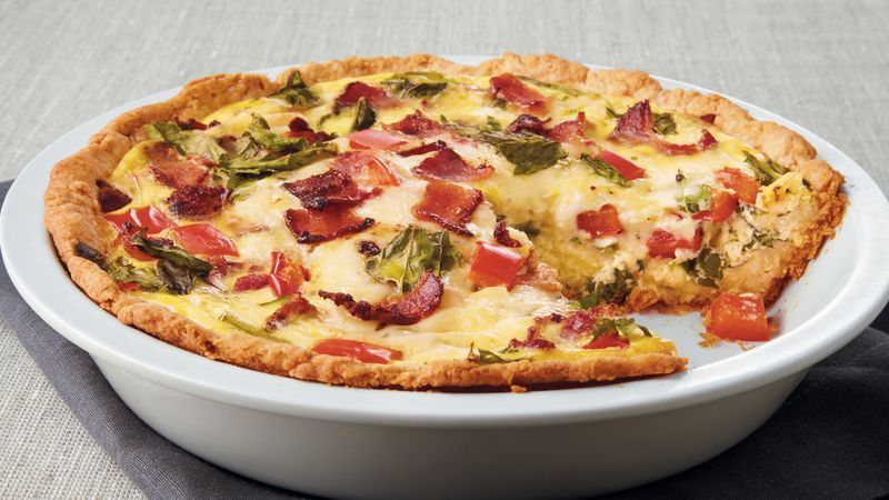 How To Make Impossible Quiche Pie Recipe Post Starts With A Baking Mix Bisquick Or Pamela S Ba Impossible Quiche Spinach Quiche Recipes Bisquick Quiche Recipe