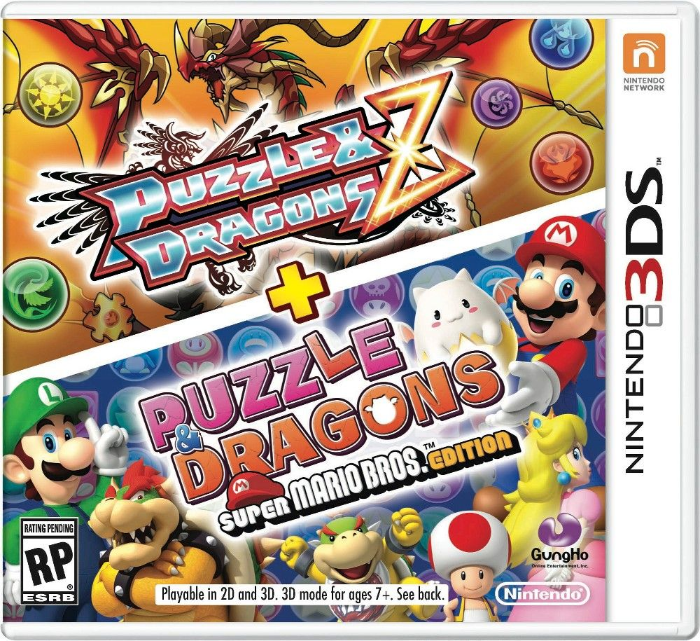 Two Puzzling Rpg Adventures Await You Rescue Princess Peach From Bowser Or Defeat The Evil Group Pa Super Mario Bros Nintendo Dragon Super Puzzles And Dragons