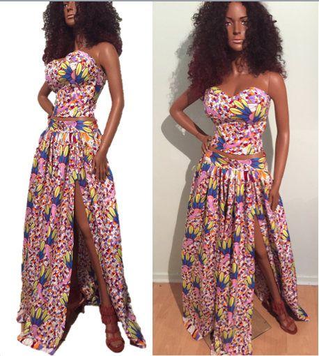 afrique ensemble jupe d ankara sexy ankara maxi jupe top africain v tements s m l xl. Black Bedroom Furniture Sets. Home Design Ideas