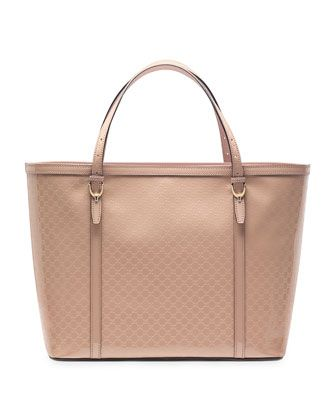370a0fb9286 Gucci Nice Microguccissima Patent Leather Tote