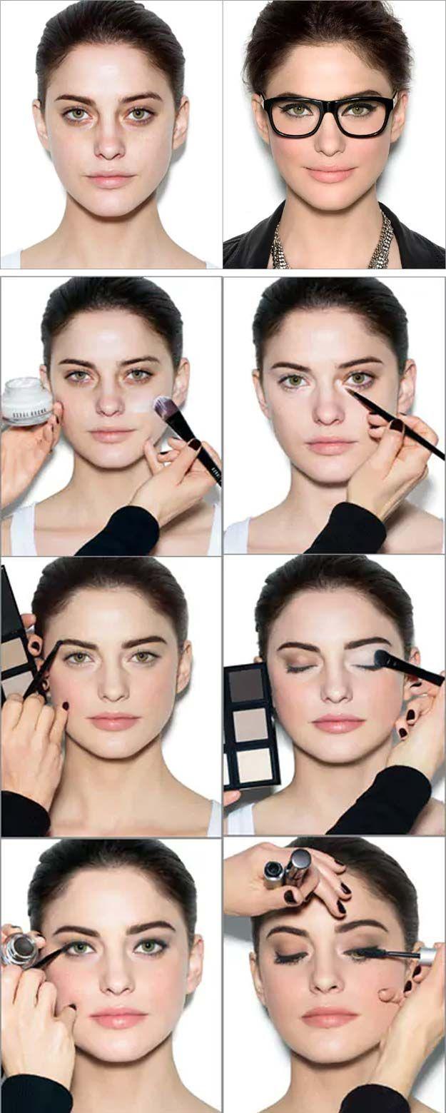 38 Makeup Tips For Glasses Glasses Eye Makeup Black Smokey Eye