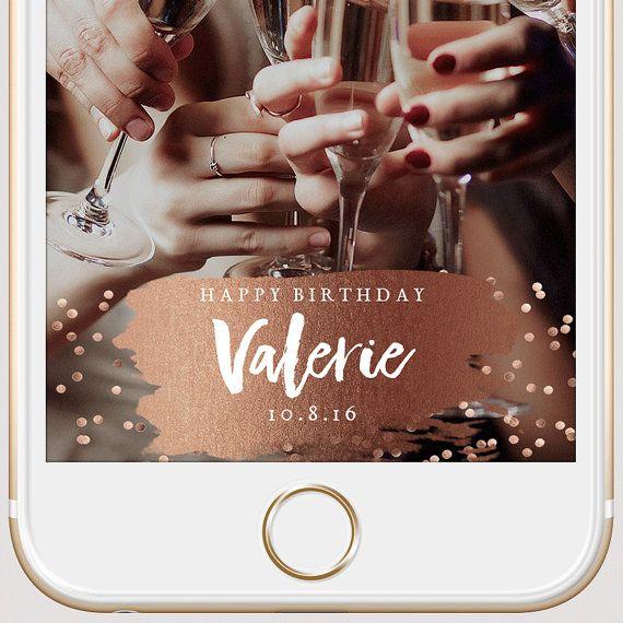 Snapchat Filter Birthday Party Birthday Filter 21st Birthday Bash Pink Gold Birthday Birthday Snapchat Snapchat Geofilter