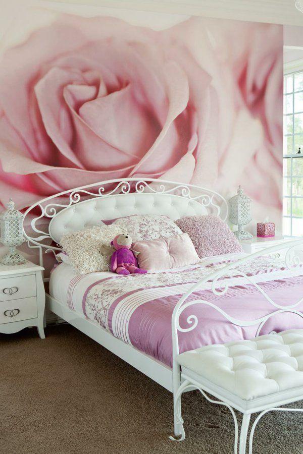 rosentapete Eijffinger tapete wandgestaltung schlafzimmer Pinterest