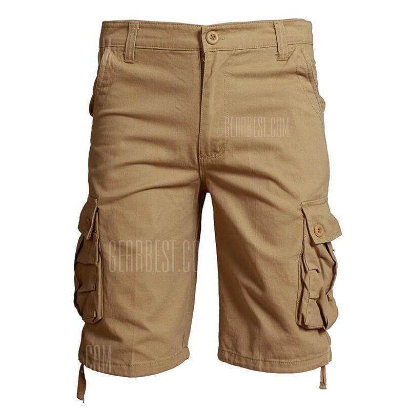 a6845695268e Plus Size Big Pockets Men Loose Pants Casual Cargo Shorts -  27.72 ...