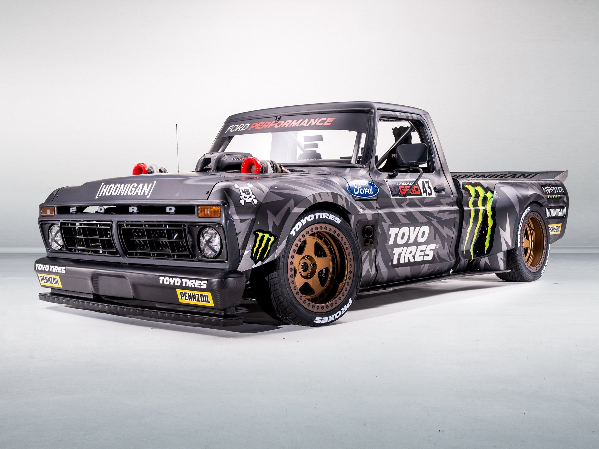 Ken Block S Gymkhana Ten F 150 Hoonitruck Presented By Toyo Tires Classic Trucks Ford Trucks Trucks