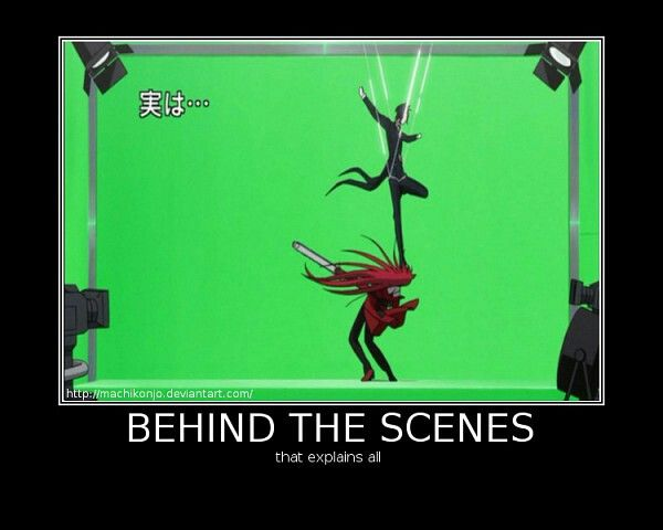 Behind the scenes that explains all, funny, text, green