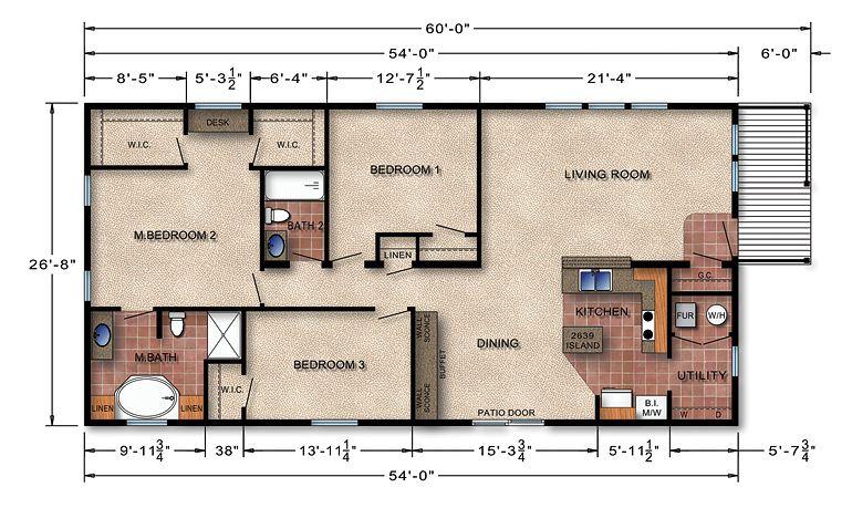 Michigan Ranch Modular Home Floor Plan 167 | home ideas | Pinterest ...