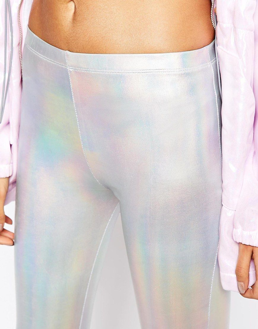 7cef39e2bf2d2 Image 3 of Story Of Lola Festival High Rise Leggings In Metallic Iridescent