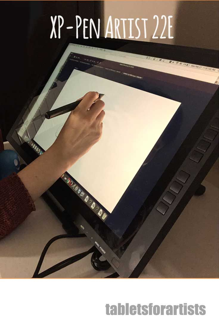 xp pen artist 22e review quality cintiq alternative with hotkeys