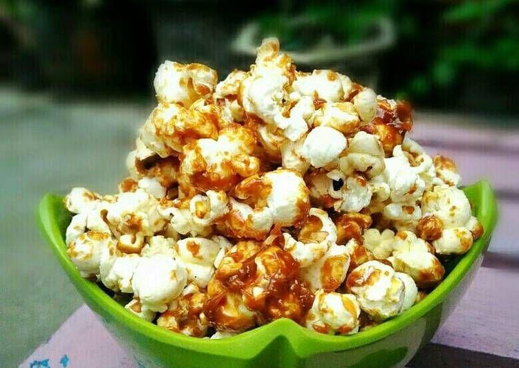 Resep Popcorn Karamel Oleh Dhiah Oddie Resep Cemilan Nampan Margarin