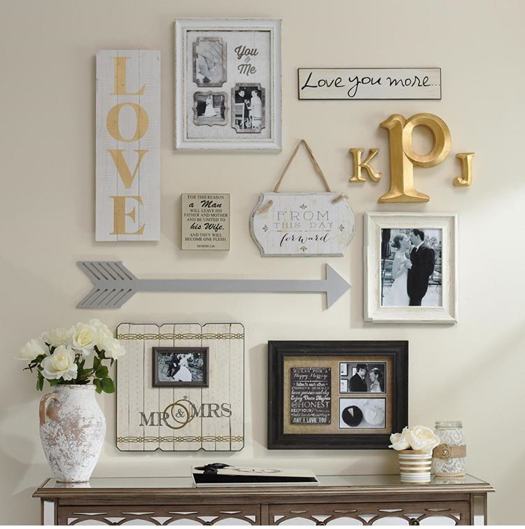 I Love The Initials In This Gallery Wall