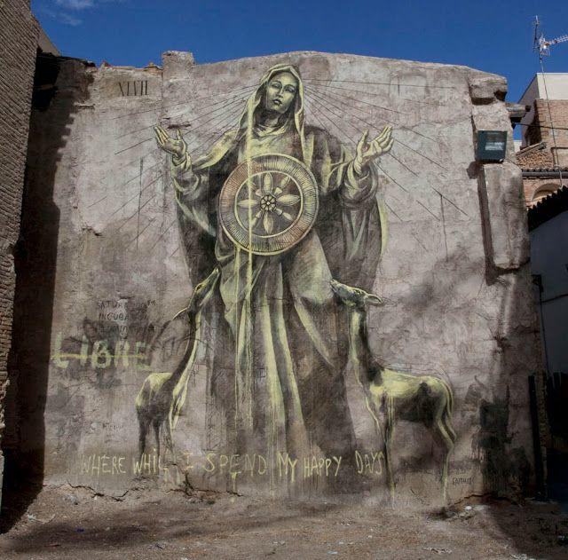 Street Art By South African Muralist Faith47 For Avant Garde Urban In Tudela, Spain. 2