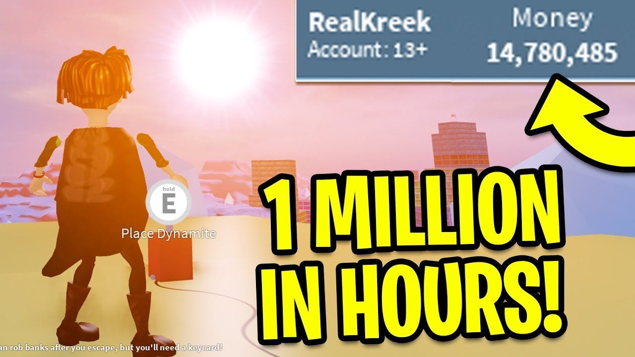 Make Money For You On Roblox Jailbreak - Jailbreak How To Get Money Fast 1 Million In Hours Roblox