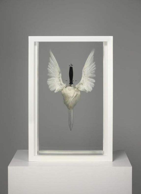 fletchingarrows:  creatio-ex-materia:  Damien Hirst - Sacred Heart (with Hope) - 2007  looks more like the death of hope to me.