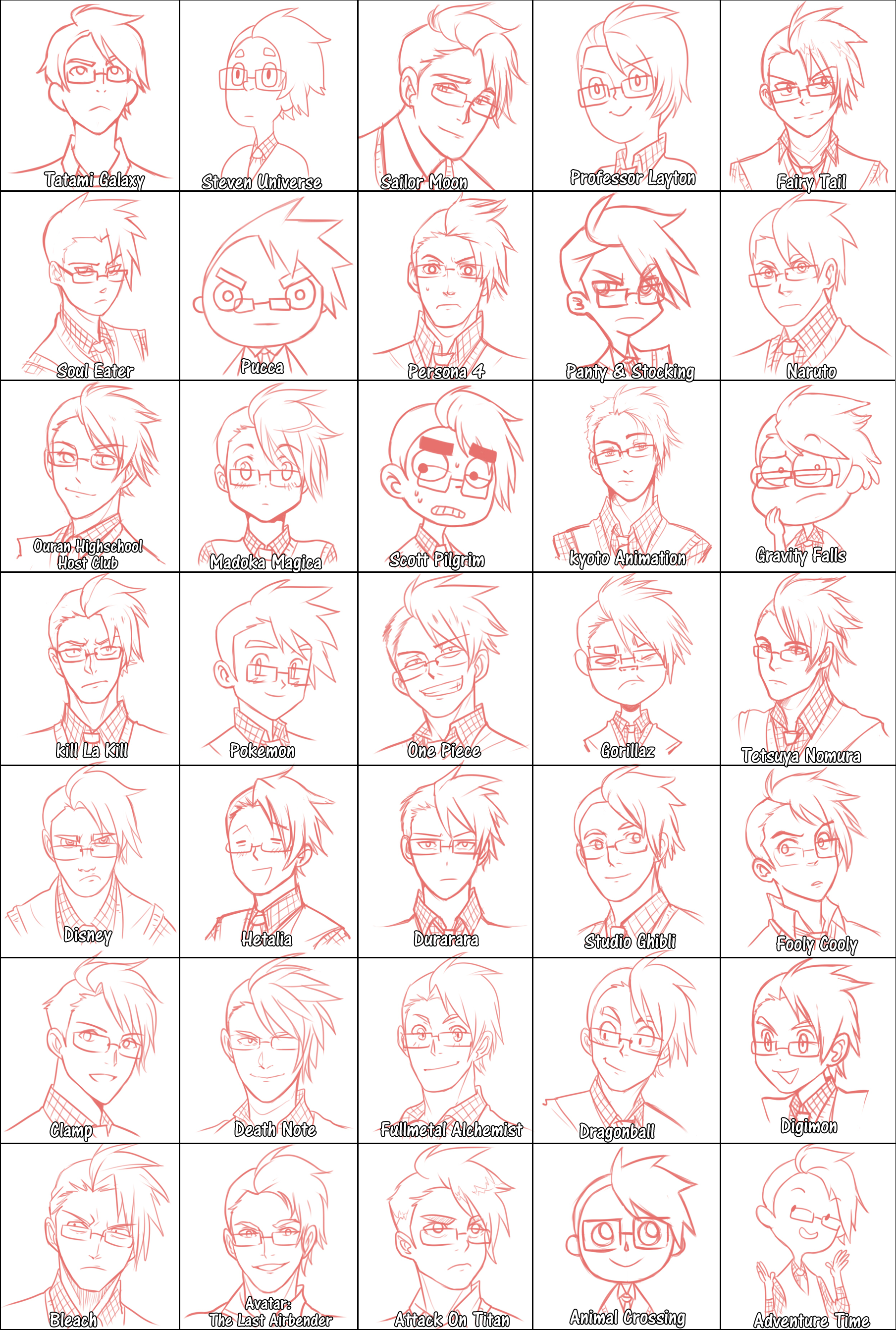 Draw Yourself Style Meme Different Drawing Styles Anime Drawing Styles Art Style Challenge