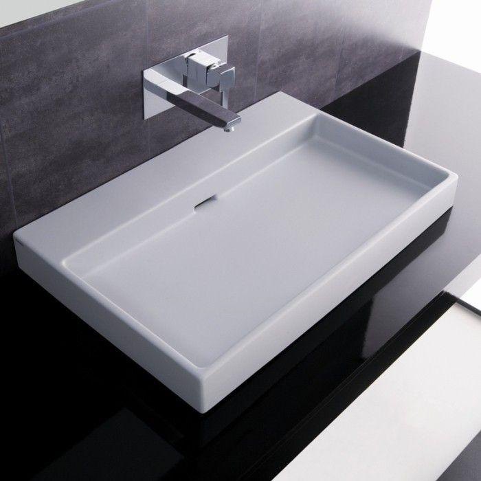 Ordinaire Stunning Designer Luxurious High End Modern Bathroom Ceramic Vessel Sink  With Overflow.