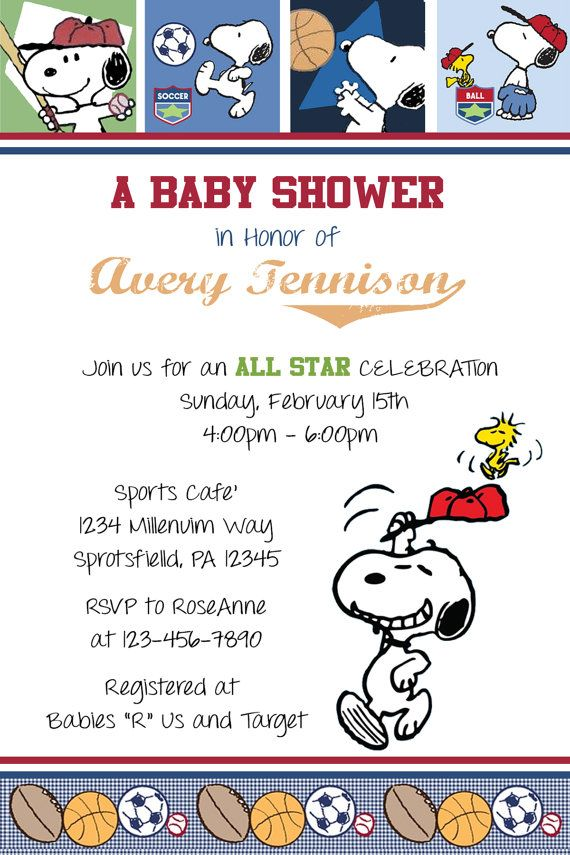 Snoopy Invitations Snoopy Sport Printed or Digital File on Etsy ...