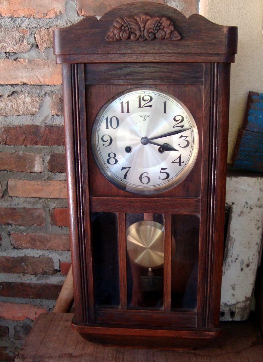 a850fc9d411 Relógio Parede Pêndulo Masson. - R  890