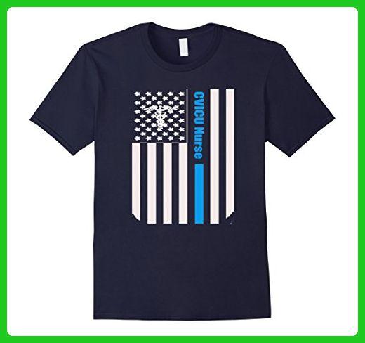 mens cvicu nurse distressed american flag nurse tshirt 2xl navy