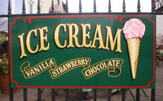 ice cream sign board