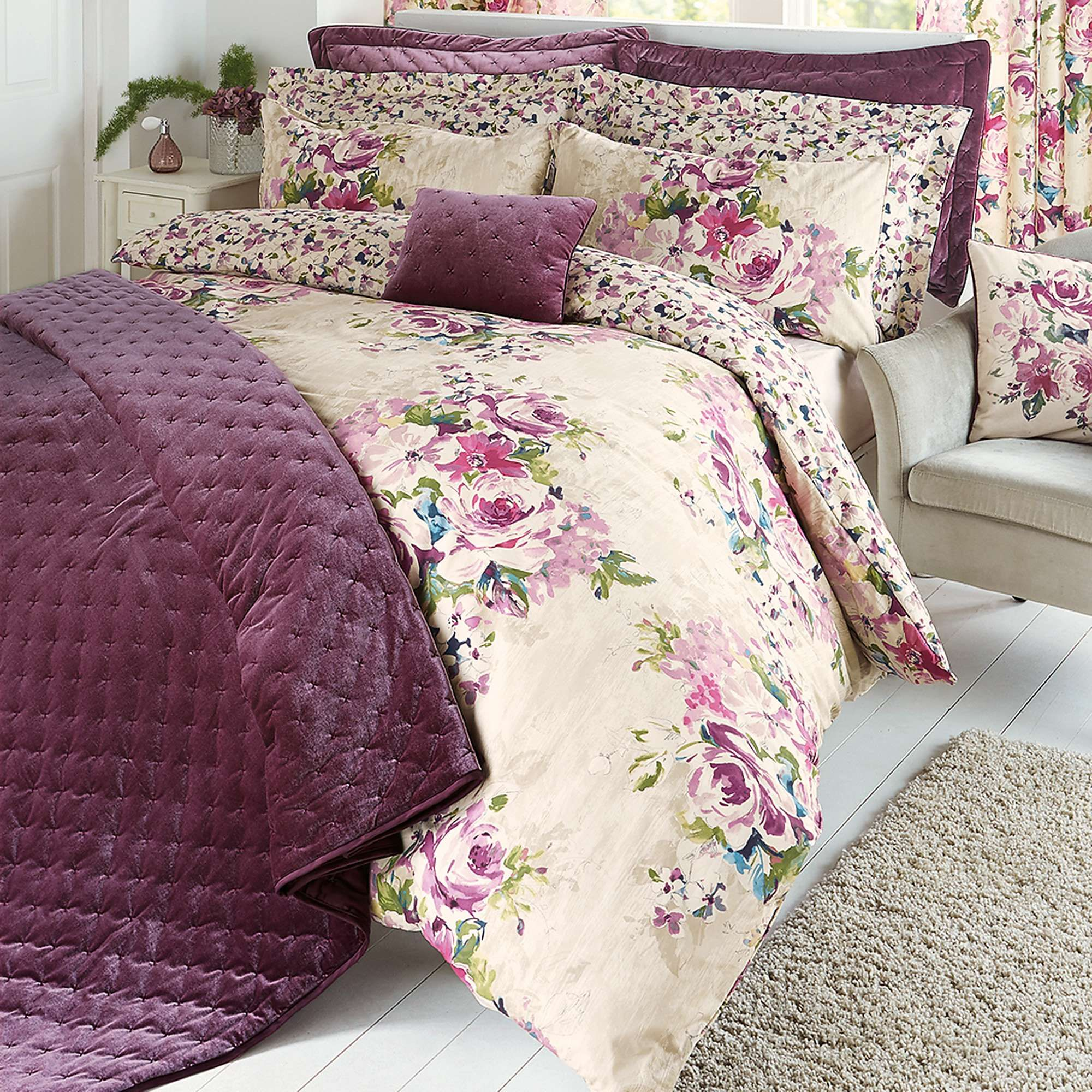 overstock block piece bath with sheets home plum quilted set arza chic shipping free comforter bedding quilt product today color
