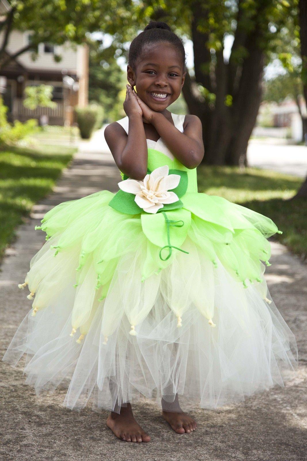 Tiana Tutu Dress Princess Tiana Tutu Princess A Frog Dress Girl Tiana Tutu Princess Tiana Costume Princess Costumes Princess Halloween Costume