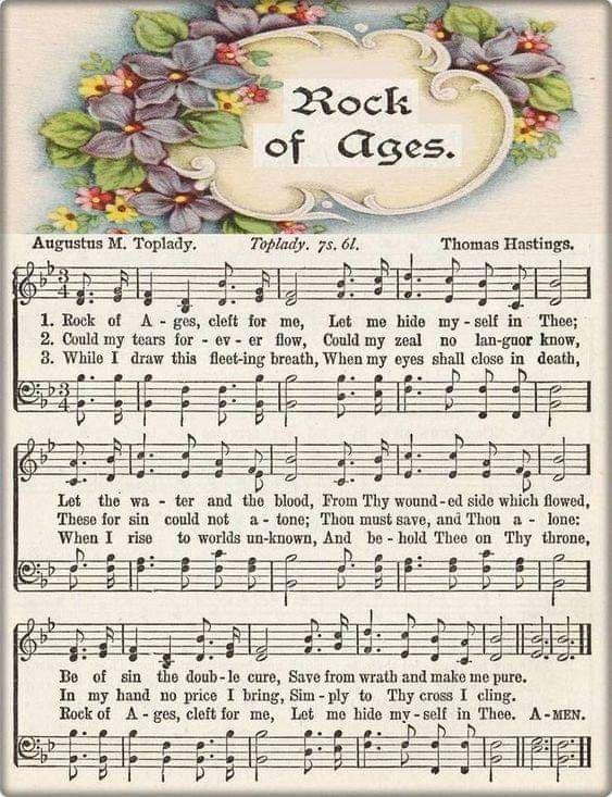Rock Of Ages Gospel Song Lyrics Hymn Sheet Music Praise Songs
