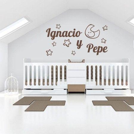 Vinilos nombres ignacio y pepe habitaci n bebes for Pegatinas decorativas para bebes