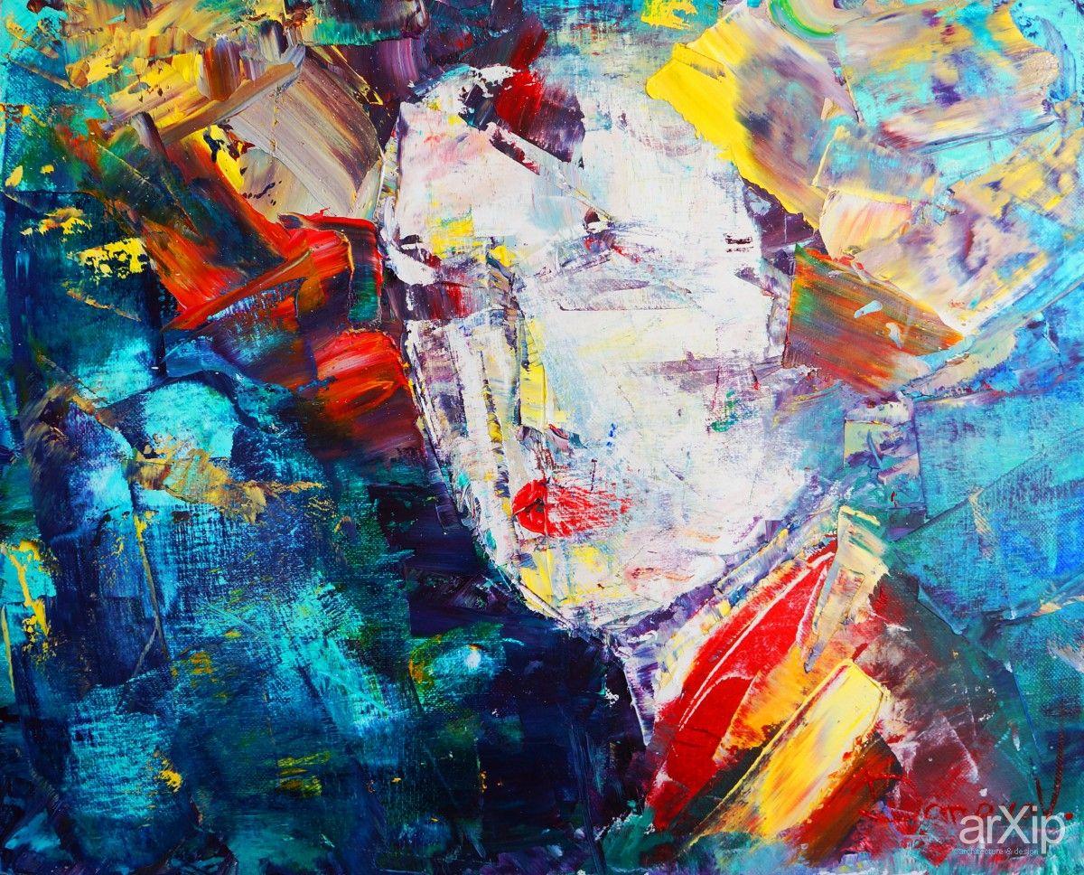 Мысли Японии / 40х50 / 2012: живопись, экспрессионизм, портрет, масло #visualarts #expressionism #portrait #oil arXip.com