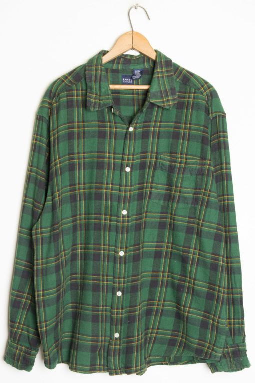 2e91bc96cc Vintage Flannel Shirt 601   Flannel Shirts   Green flannel, Flannel ...