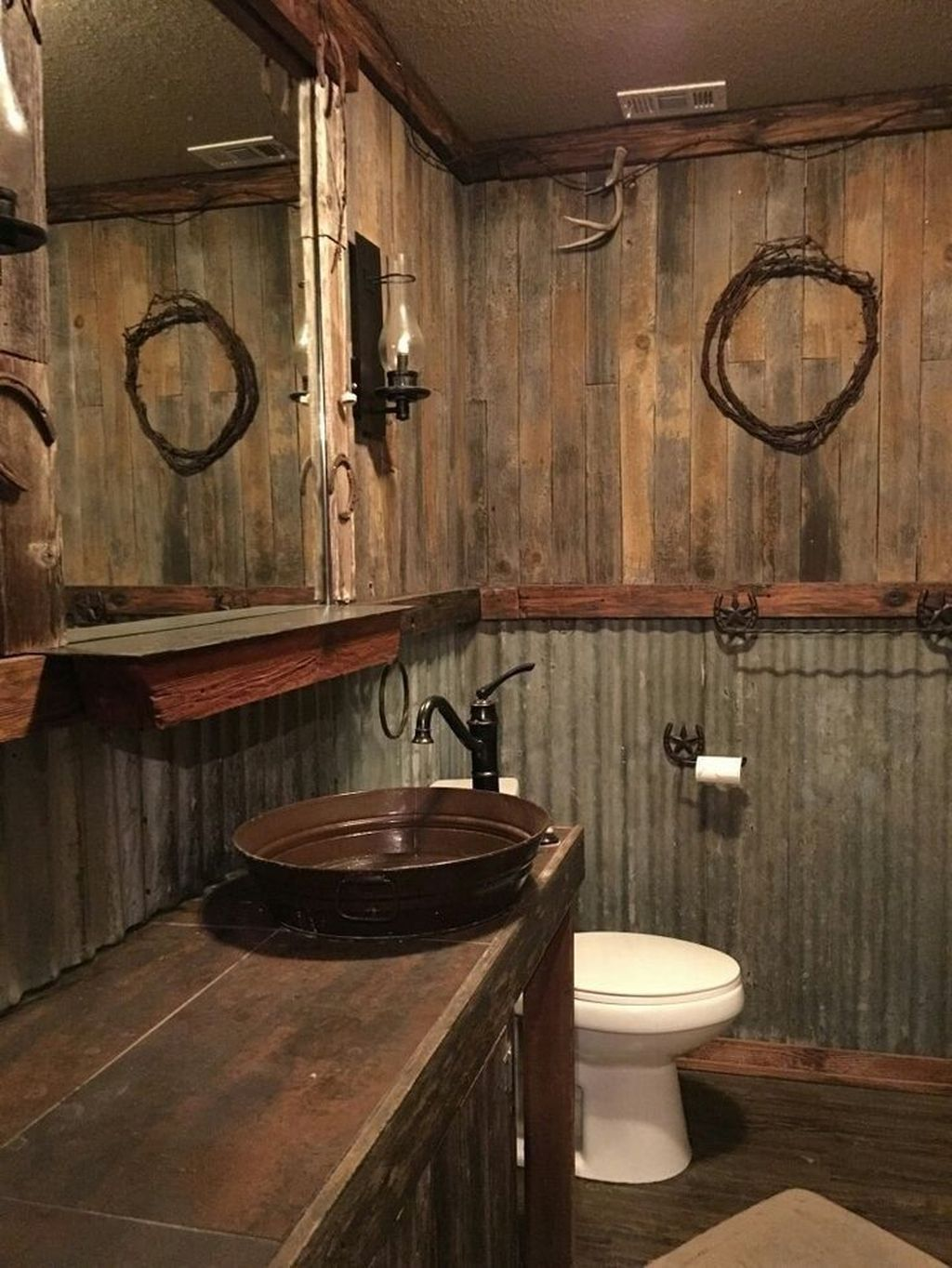 37 Amazing Rustic Barn Bathroom Decor Ideas Rustic Bathroom