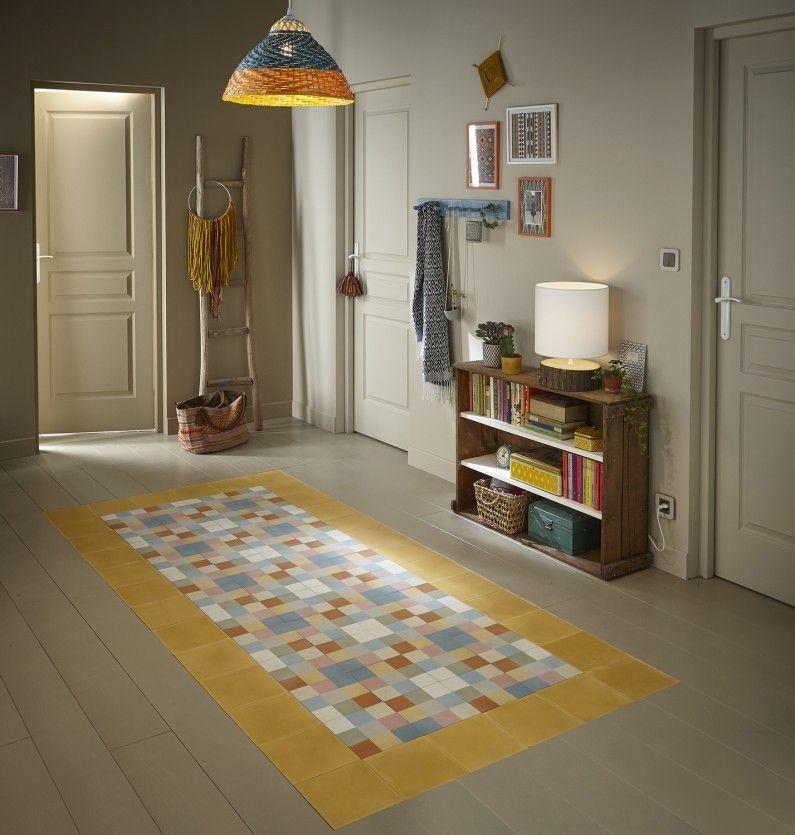 Un tapis en trompe lu0027oeil avec des carreaux de ciment Rénovations - Oeil Pour Porte D Entree
