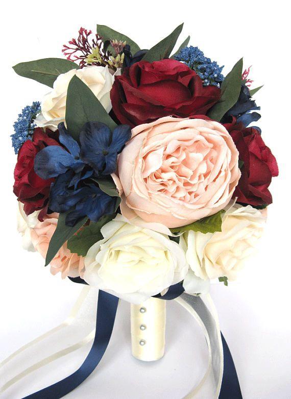 17 Piece Wedding Bouquet Package Bridal Bouquets Artificial Silk