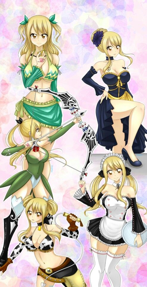 Lucy Heartfilia Star Dress Fairy Tail Anime Fairy Tail Girls