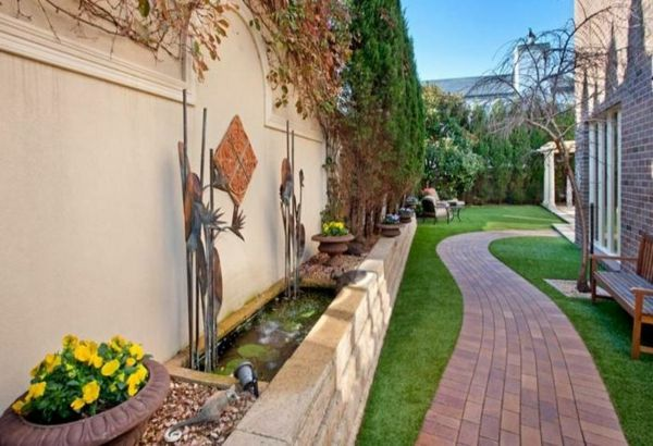 Charming Moderne Gartengestaltung U2013 100 Erstaunliche Gartenideen   Mauer Gartenideen  Landschaft Trends Hinterhof Moderne Gartengestaltung Pictures
