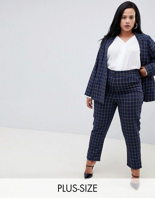 43a9a03c11d Fashion Union Plus Check Cigarette Pants Two-Piece