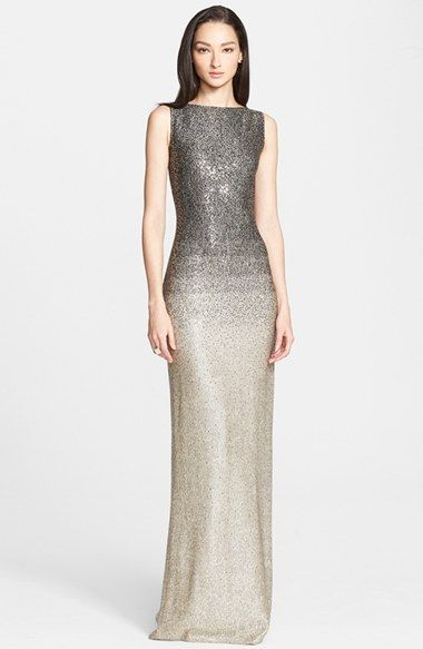 St John Collection Dégradé Shimmer Knit Sequin Gown Available At