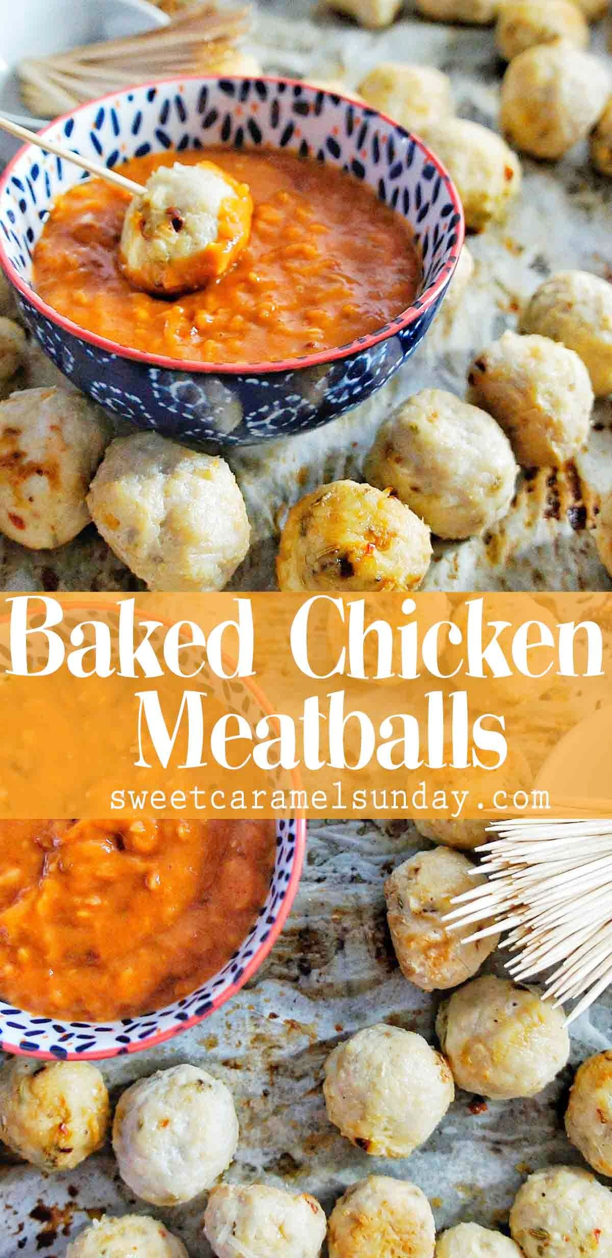 Healthy Baked Chicken Meatballs images