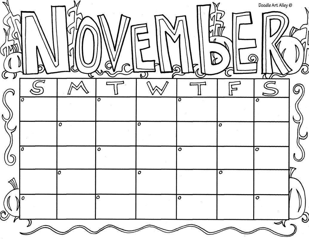november calendar coloring pages 2015 - photo#11