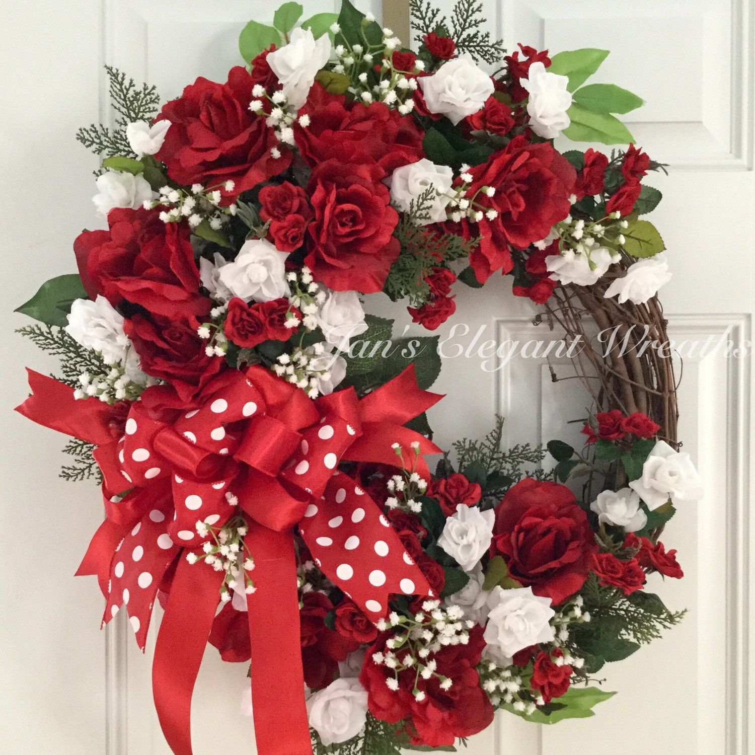 Another Red Rose Wreath For Spring Red Rose Wreath Spring Wreath Rose Wreath