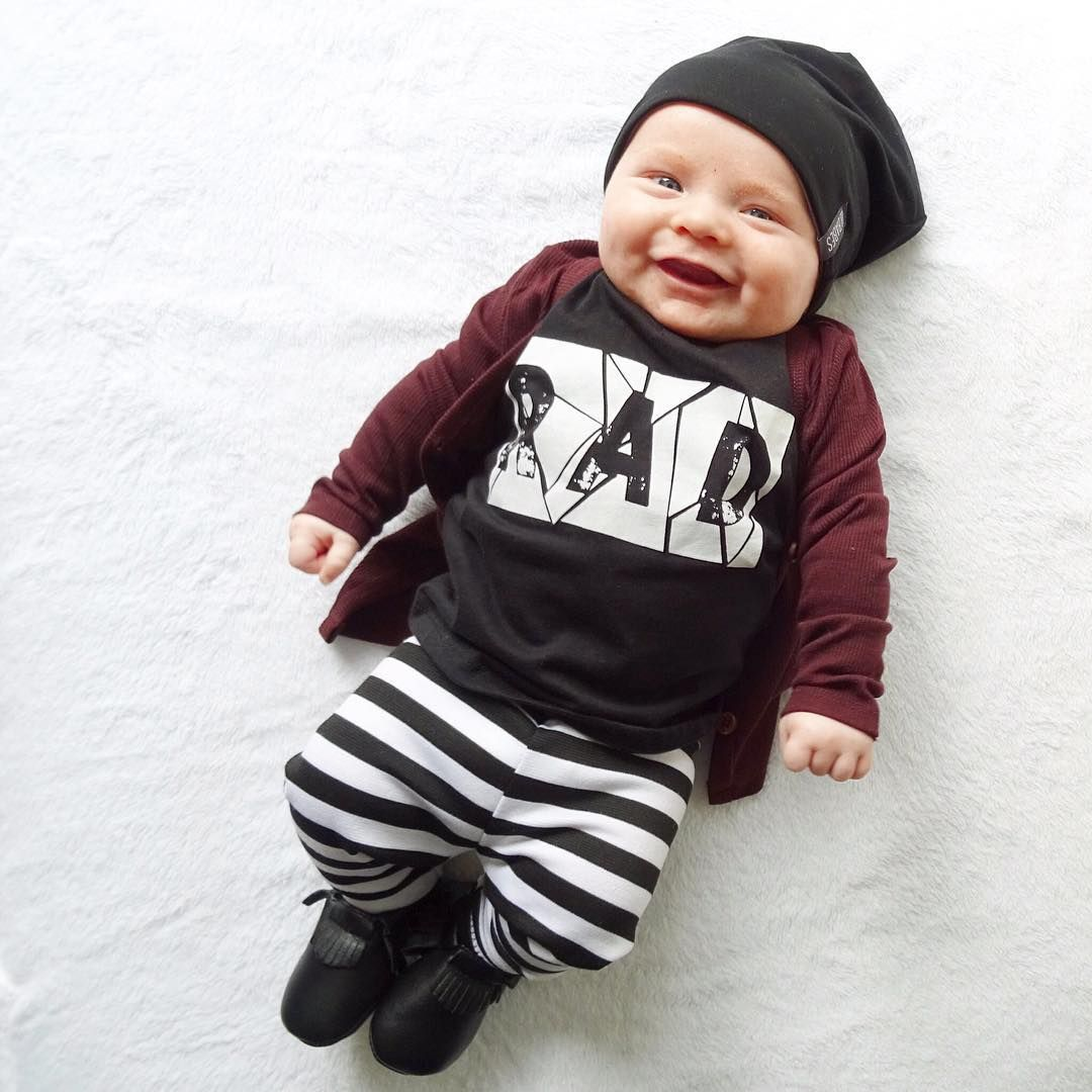 Baby hipster clothes boy photo photo