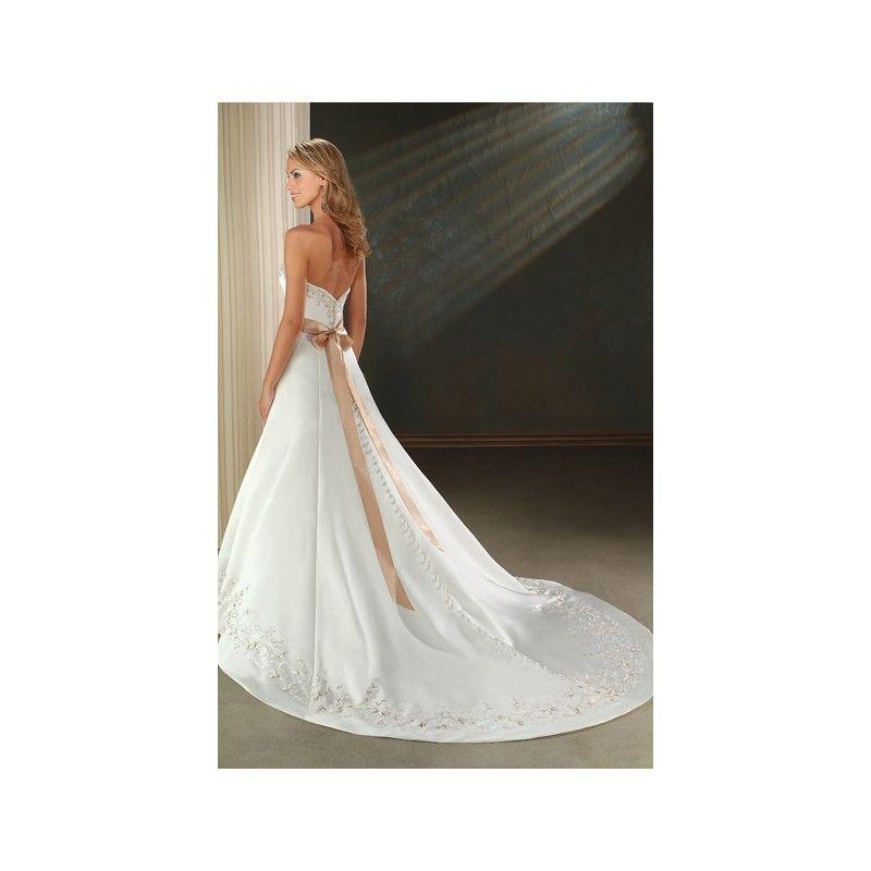 Wedding Dress With Gold Sash