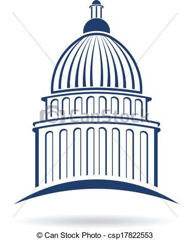clipart vector of capitol cupula logo csp17822553 search clip art rh pinterest com  capital building clip art on inauguration day