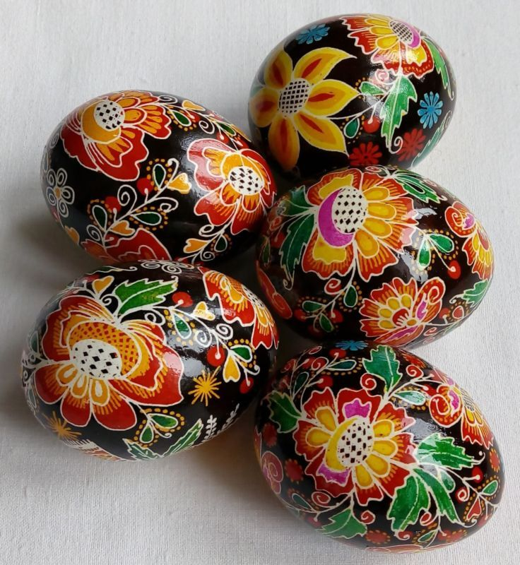 5 Real Ukrainian Hand Made Pysanky Easter Eggs Ukraine