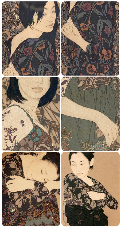 Ikenaga Yasunari, collage by Loris Rizzi