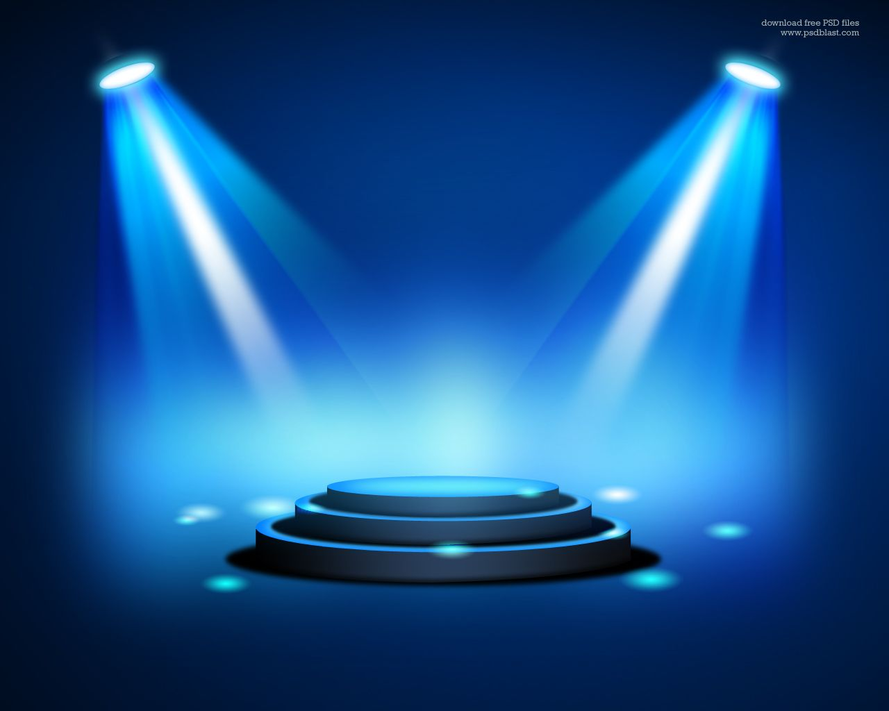 Stage Lighting Background With Spot Light Effects Psd